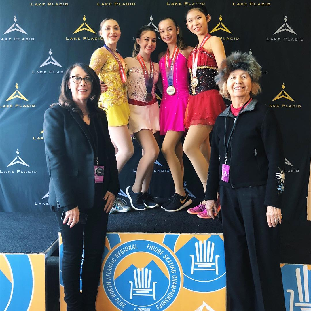 Emily Zhang (1st, SCNY), Laura Jacobson (2nd, SCNY), Ashley Leahy (3rd, SCNY), Sophia Tsintsadze (4th, SCNY)