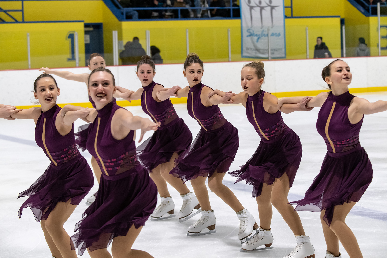 The 2018-19 Central Park Ice intermediate line won silver at the 2018 Essex Synchro Classic and 2018 Terry Conners Synchro Open, and placed ninth at the 2019 Colonial Classic.