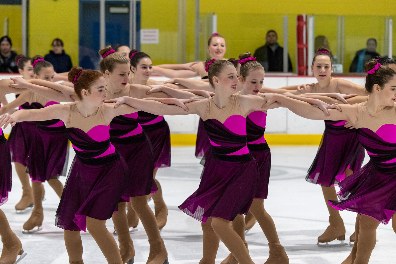 The 2018-19 Dix Hills Ice Chips Pre-Juvenile Line won bronze at the 2018 Terry Conners Synchro Open and placed seventh at the 2019 Colonial Classic.