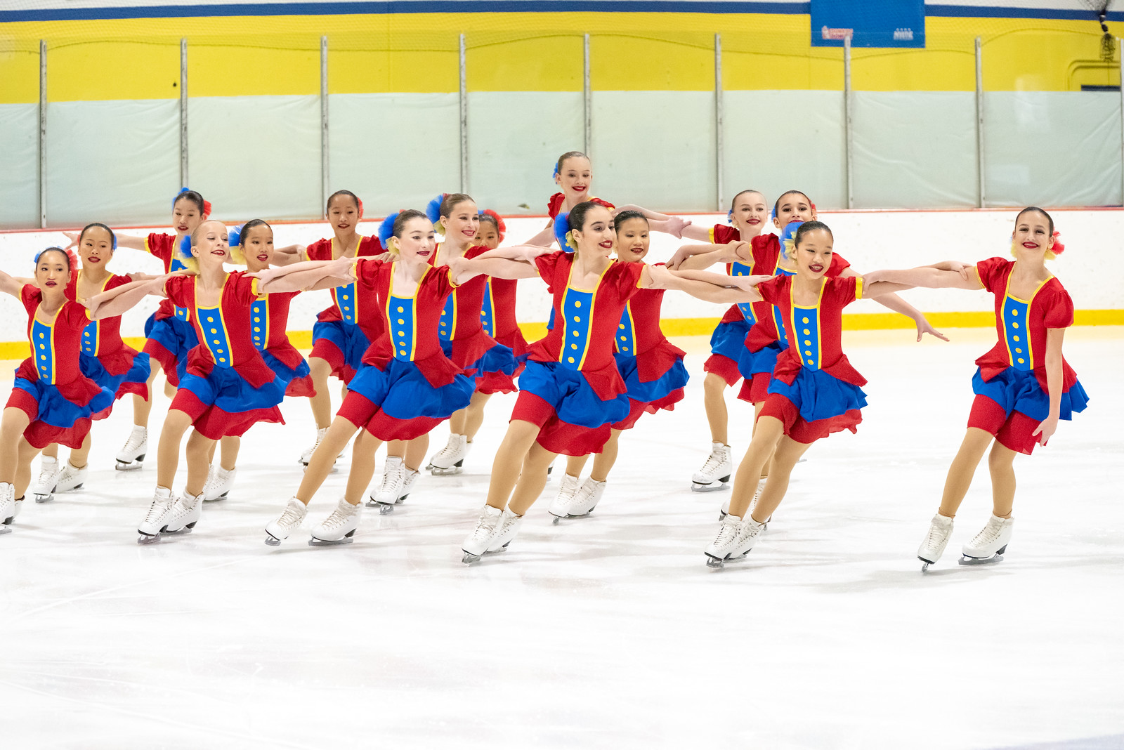 Th Skyliners 2018-19 Juvenile line won the 2018 Boston and Terry Conners Synchro Classics, and won silver at the 2019 Colonial Classic. Skyliners Juvenile has won four Nationals titles (2011, 2014, 2016, 2017) and Eastern Sectionals eight consecutive times (2011-18).