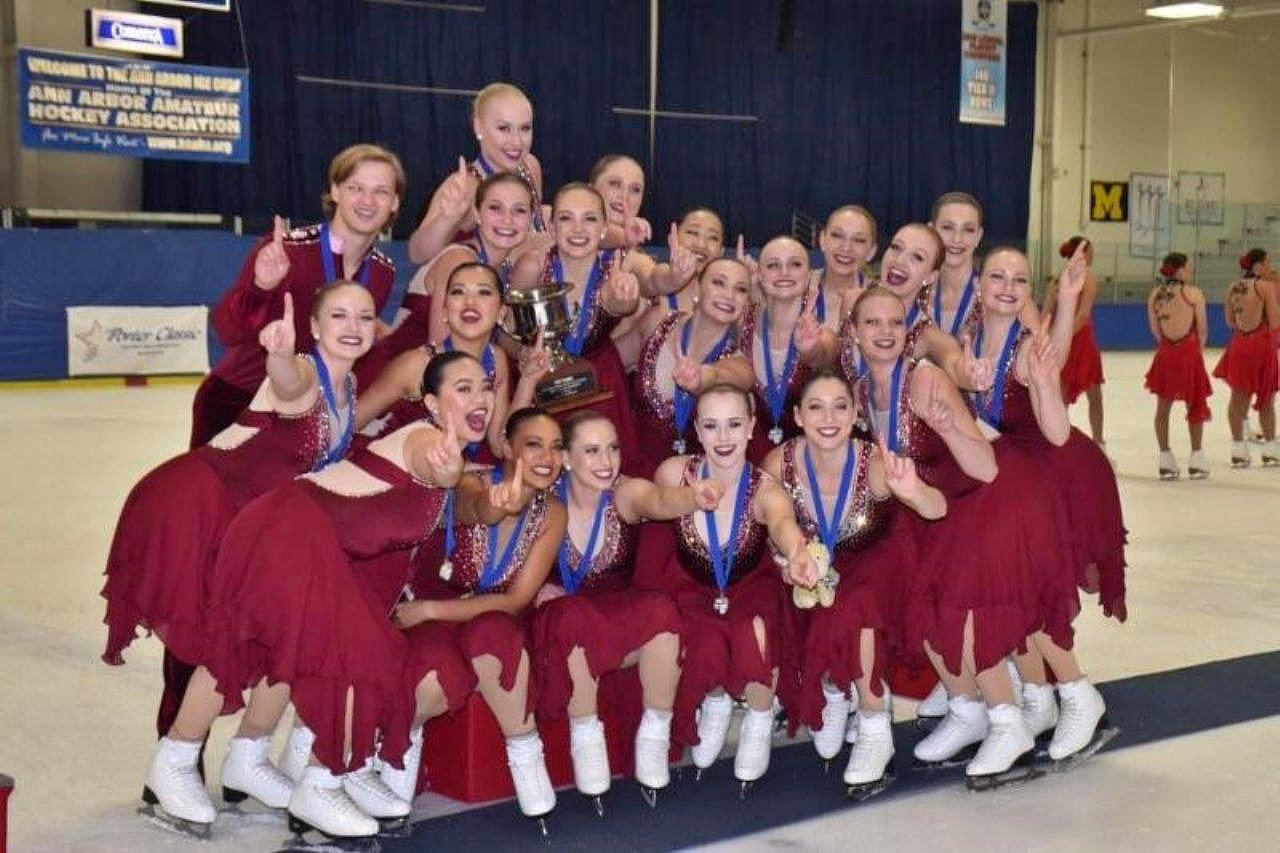 The Skyliners 2018-19 senior line won the 2018 Glacier Falls Synchro Classic in Anaheim, CA and 2018 Richard Porter Synchro Classic in Ann Arbor, MI. The line placed sixth at the ISU Mozart Cup in Salzburg, Austria and will represent US Figure Skating as Team USA at the Zagreb Snowflakes Trophy in Croatia. It is the 2018 US Synchronized Skating silveer medalist.